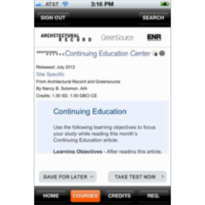 Architectural Record Continuing Education App for iOS icon