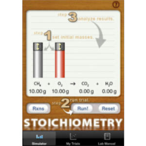 Stoichiometry Simulator App for iOS