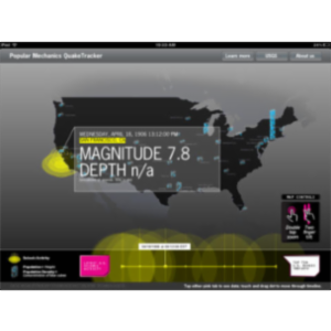 Popular Mechanics QuakeTracker App for iPad icon