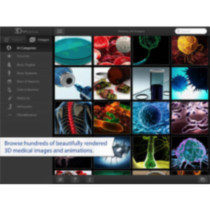 3D4Medical Images & Animations App for iPad icon