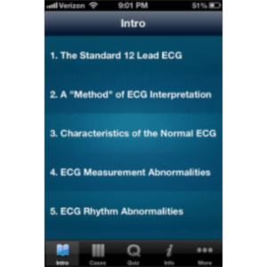 ECG - An Electrocardiogram Review for Healthcare Professionals App for iOS