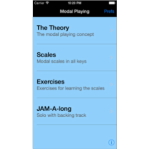 iImprov - Modal App for iOS