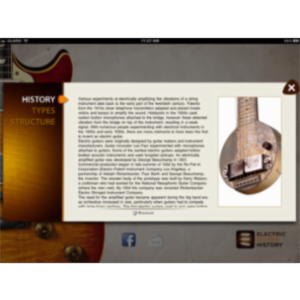 Electric Guitar History App for iPad icon