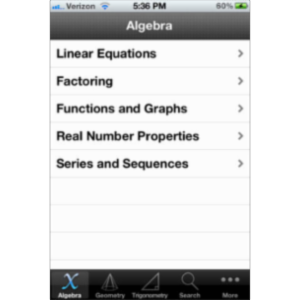 iFormulas App for iOS