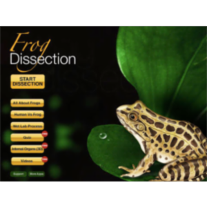 Frog Dissection App for iPad