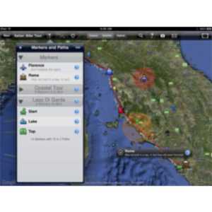 MapProjector with Google Maps App for iPad icon