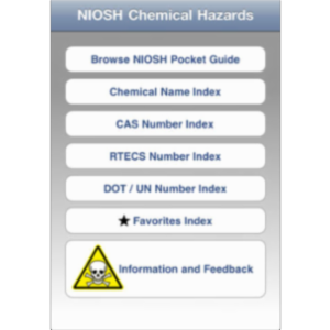 NIOSH Chemical Hazards App for iOS icon