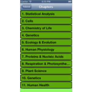 IB Biology Guide App for iOS