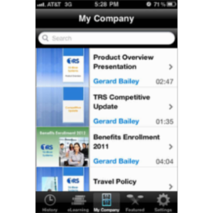 Brainshark Video Presentations App for iOS