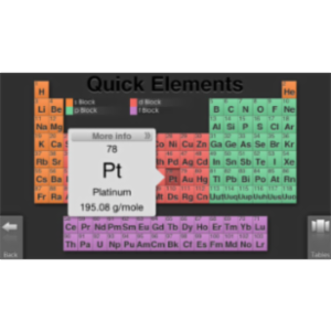 Quick Periodic Table of the Elements App for iOS