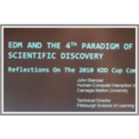 EDM and the 4th Paradigm of Scientific Discovery - Reflections on the 2010 KDD Cup Competition icon