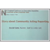Story about Community Acting Reporting icon
