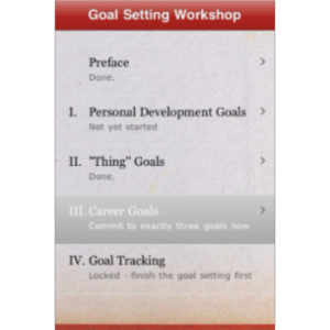 Goal Setting Workshop + simple habits and goals tracker, coach App for iOS icon