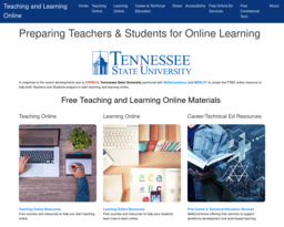 Teaching and Learning Online