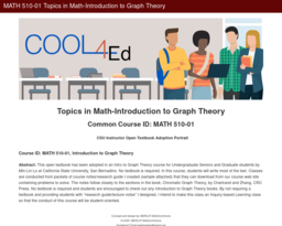 MATH 510-01 Topics in Math-Introduction to Graph Theory