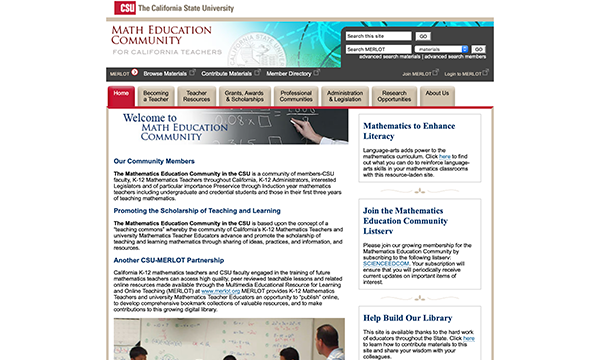 Calif State Univ - Math Education