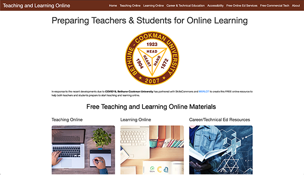 Teaching & Learning Online Portal: Bethune-Cookman University