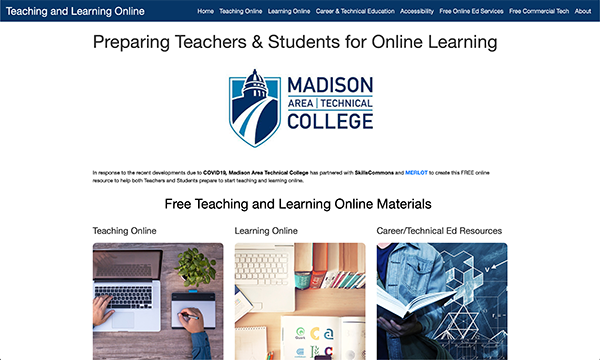 Teaching & Learning Online Portal: Madison Area Technical College