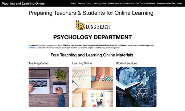 Teaching & Learning Online Portal: Calif State University, Long Beach Dept of Psychology