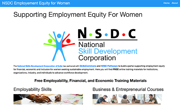 Employment Equity Portal:   NSDC India - Supporting Women