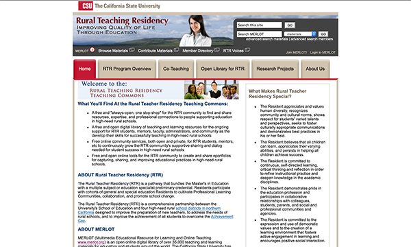 Calif State Univ - Rural Teaching Residency