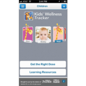 Kids' Wellness Tracker App for iOS icon