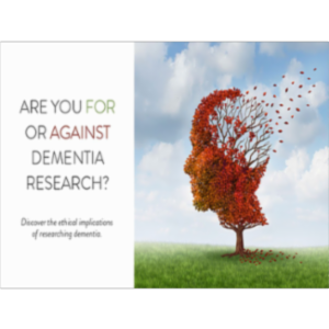 Are you FOR or AGAINST Dementia Research? icon