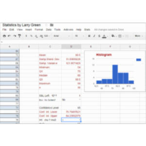 Googlesheets:  Statistics by Larry Green