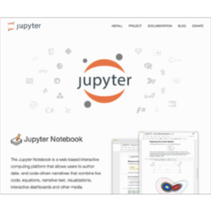 "The Jupyter Project:  The Jupyter ""Open Data"" Notebook icon"