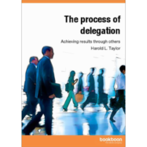 Achieving results through others - The process of delegation icon