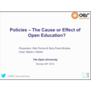 Policies: The Cause or Effect of Open Education? icon