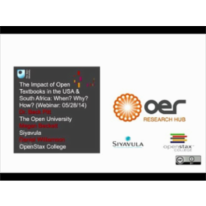 The Impact of Open Textbooks in the USA and South Africa... icon