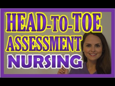 Head-to-Toe Assessment Nursing | Nursing Physical Health Assessment Exam Skills icon