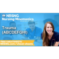 Trauma ABCDEFGHI Nursing Mnemonics, Nursing School Study Tips icon