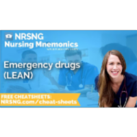 Emergency drugs LEAN Nursing Mnemonics, Nursing School Study Tips icon