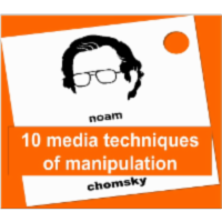 10 Media manipulation strategies by Noam Chomsky icon