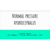 Normal pressure hydrocephalus presentation icon
