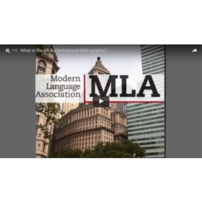 MLA International Bibliography Tutorial Videos icon
