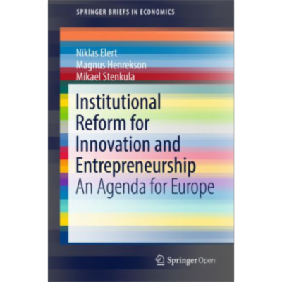 Institutional Reform for Innovation and Entrepreneurship | SpringerLink icon