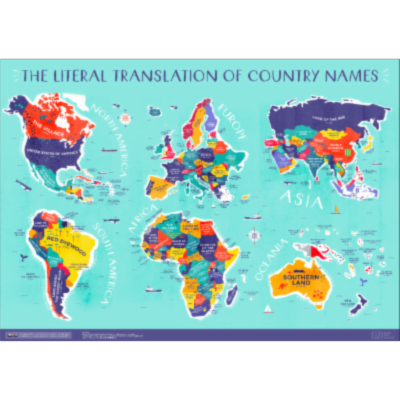 This Incredible Map Shows the Literal Meaning of Every Country's Name