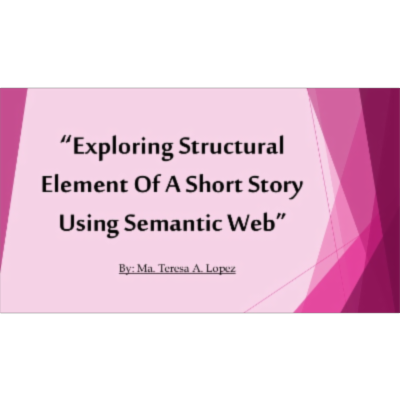 Exploring structural element of a short story using semantic web