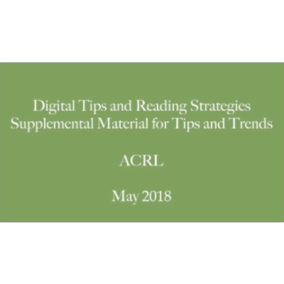 Digital Tips and Reading Strategies icon