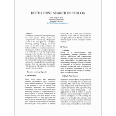 Depth First Search in Prolog | Mathematical Relations | Combinatorics icon