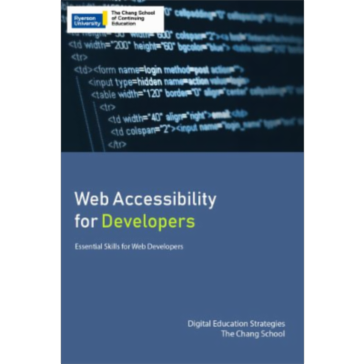 Web Accessibility for Developers  Open Textbook icon