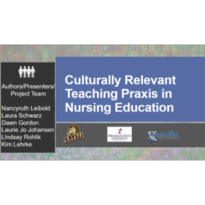 Culturally Relevant Teaching Praxis in Nursing Education icon