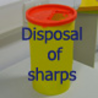 Disposal of Sharps icon