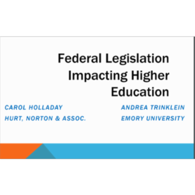 Federal Legislation Impacting Higher Education icon