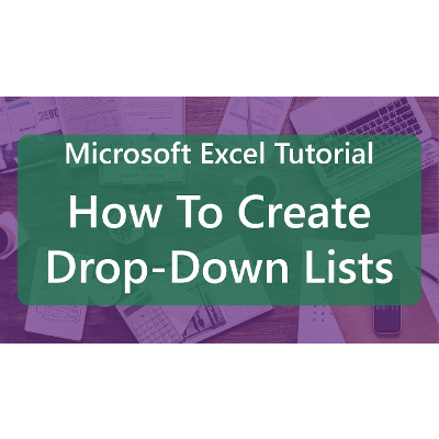 Microsoft Excel Tutorial: How To Create Drop-Down Lists
