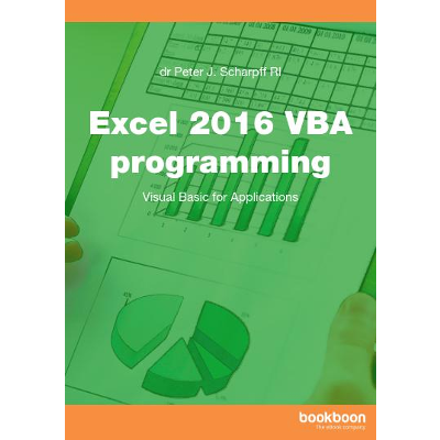 Excel 2016 VBA programming icon