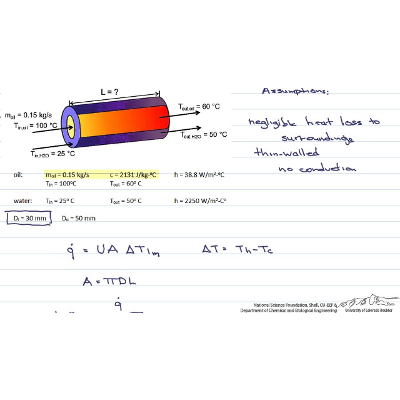 Review: Sizing a Heat Exchanger: double pipe,...